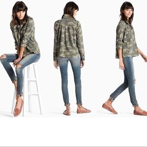 🍍 LUCKY BRAND Camouflage Shirt Jacket
